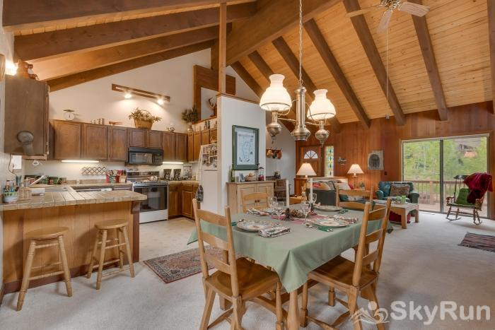 Grizzly Bear Cabin at Northstar Open Dining Area, Seating for 6
