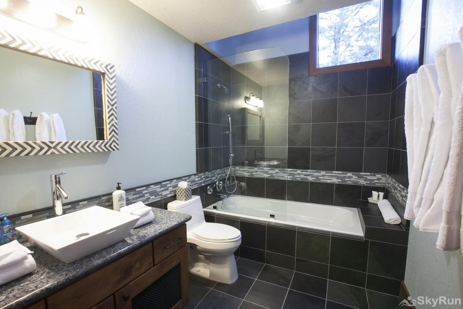 Northstar Luxury Lodgepole Retreat Guest Full Bathroom (upper level)